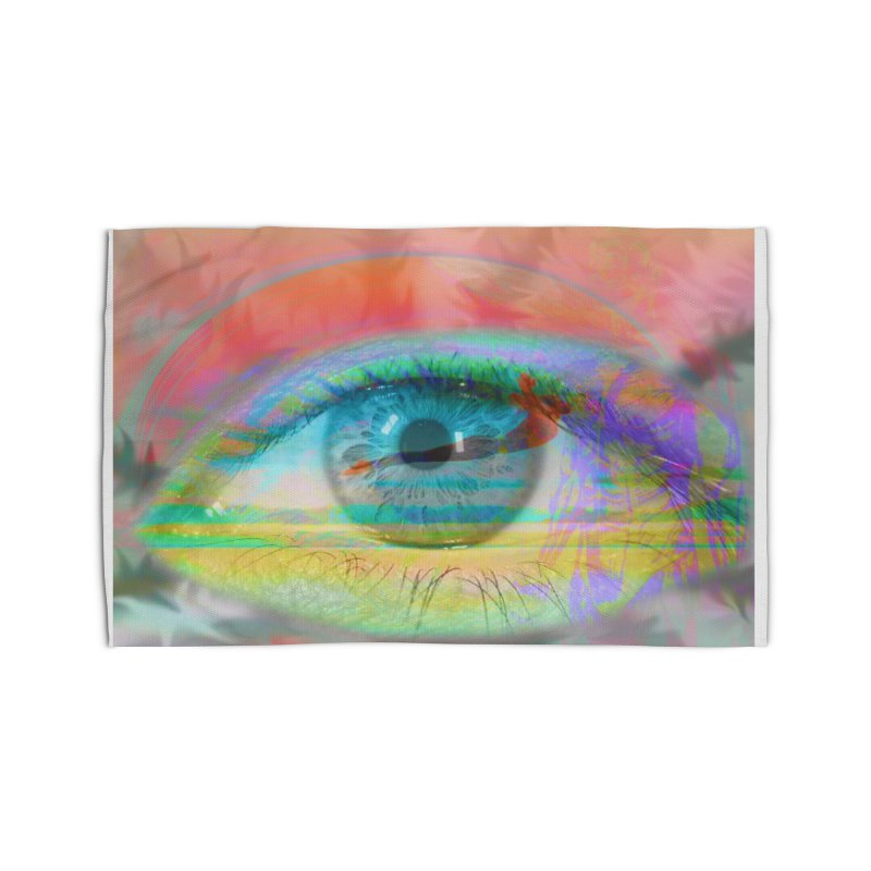 Twilight Eye: Part of the Eye Series Home Rug by InspiredPsychedelics's Artist Shop