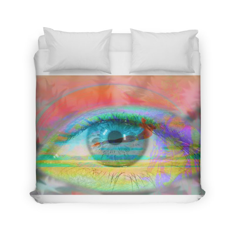 Twilight Eye: Part of the Eye Series Home Duvet by InspiredPsychedelics's Artist Shop