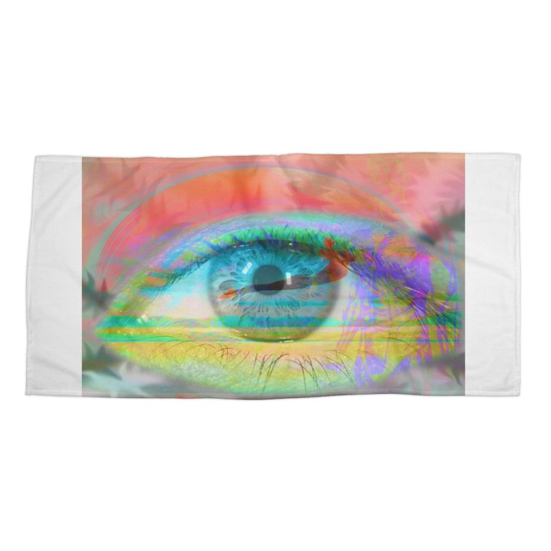 Twilight Eye: Part of the Eye Series Accessories Beach Towel by InspiredPsychedelics's Artist Shop