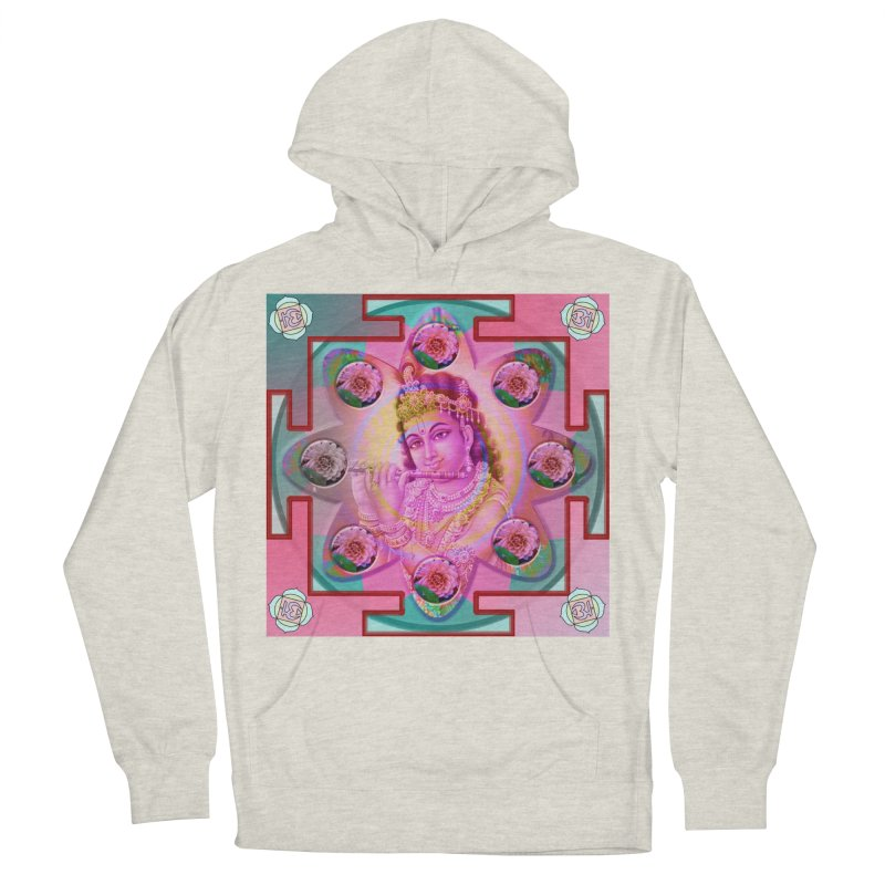 Krishna Mandala Women's French Terry Pullover Hoody by InspiredPsychedelics's Artist Shop