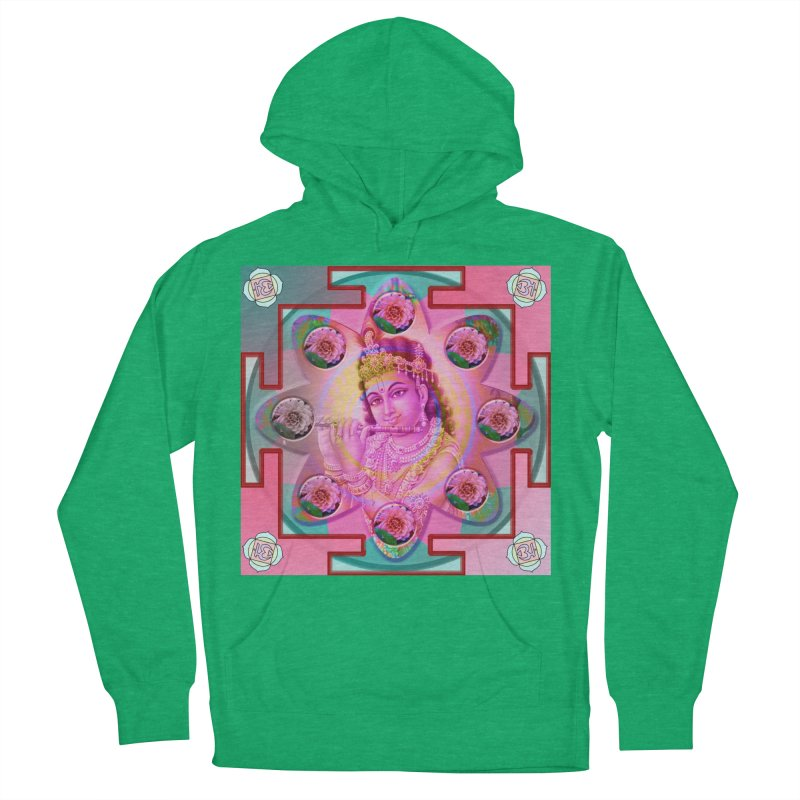 Krishna Mandala Men's French Terry Pullover Hoody by InspiredPsychedelics's Artist Shop