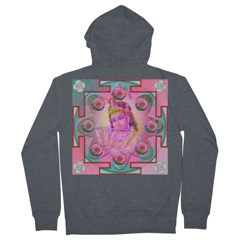 Krishna Mandala Women's Zip-Up Hoody by InspiredPsychedelics's Artist Shop