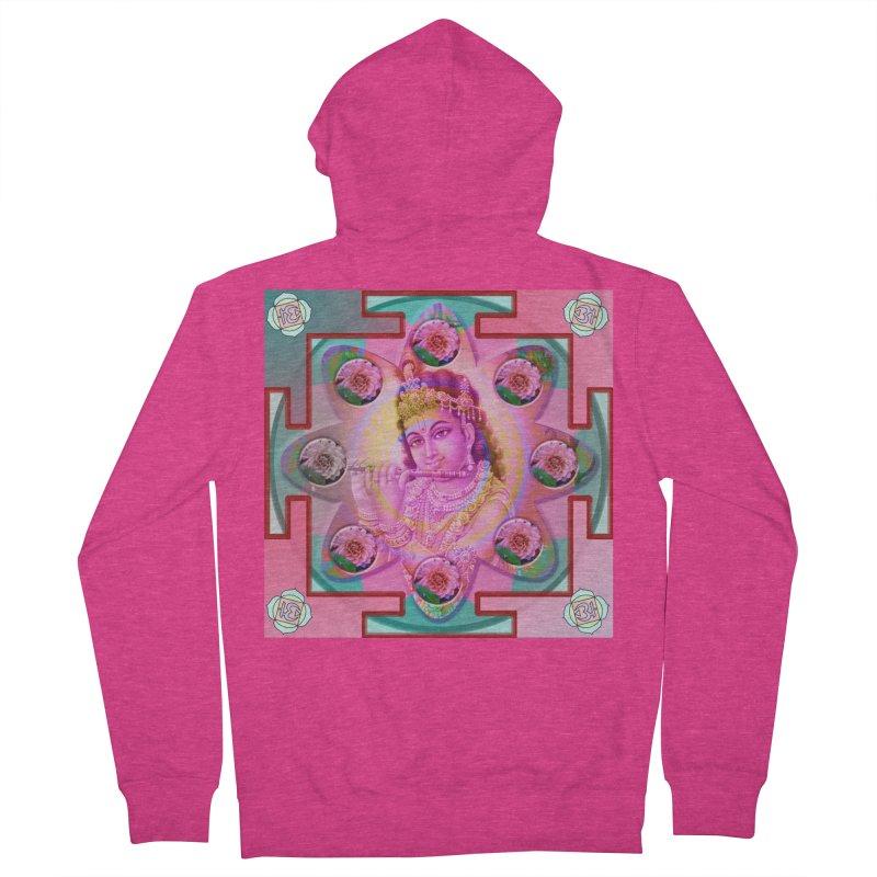 Krishna Mandala Women's Zip-Up Hoody by InspiredPsychedelics's Artist Shop