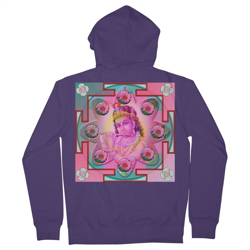 Krishna Mandala Women's French Terry Zip-Up Hoody by InspiredPsychedelics's Artist Shop