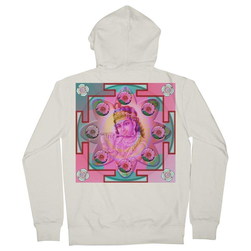 Krishna Mandala Women's French Terry Zip-Up Hoody by InspiredPsychedelics's Artist Shop