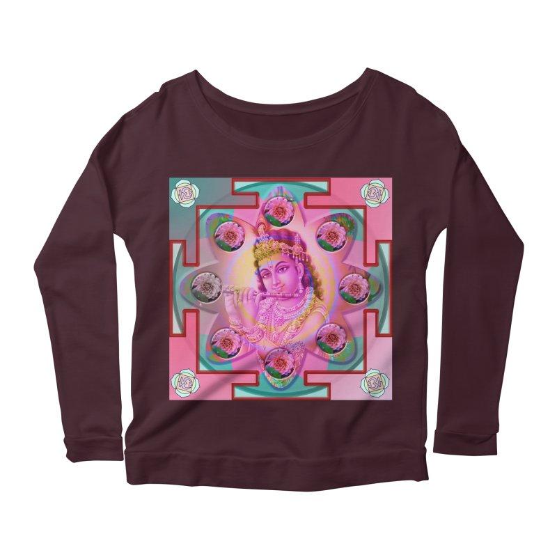 Krishna Mandala Women's Longsleeve Scoopneck  by InspiredPsychedelics's Artist Shop