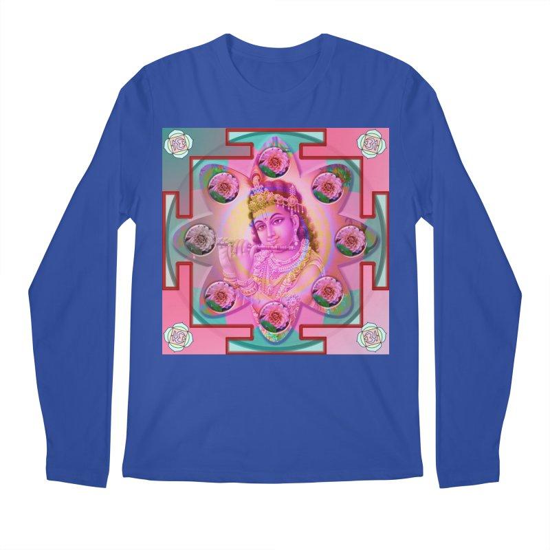 Krishna Mandala Men's Regular Longsleeve T-Shirt by InspiredPsychedelics's Artist Shop
