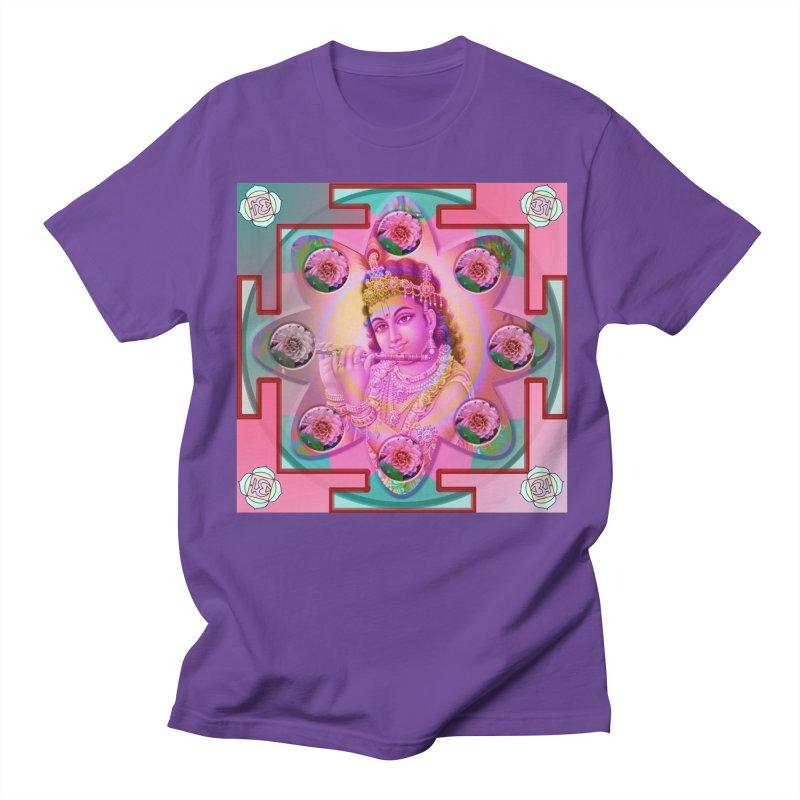Krishna Mandala Men's T-Shirt by InspiredPsychedelics's Artist Shop