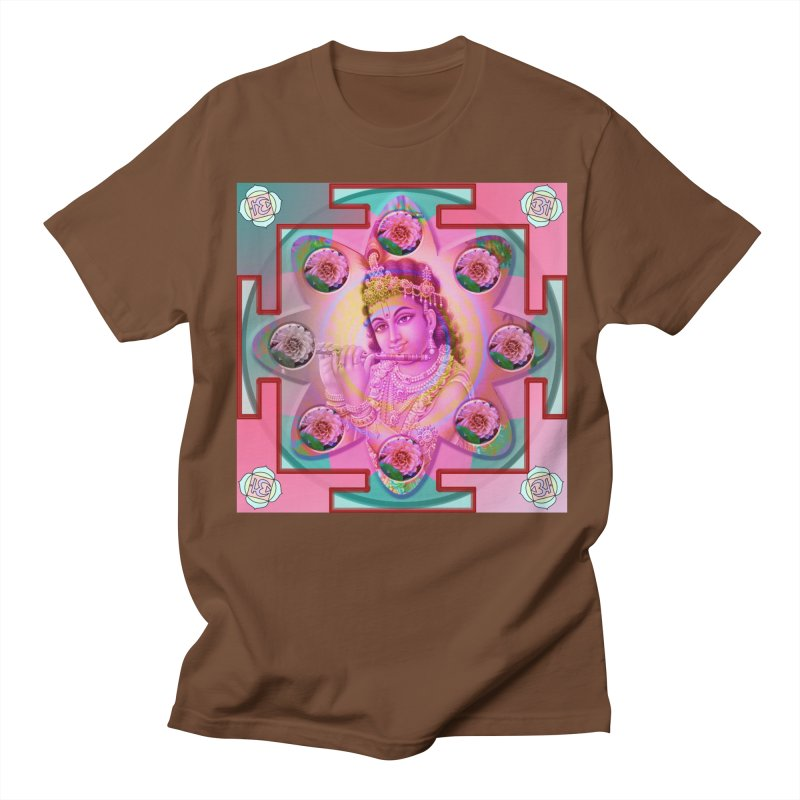 Krishna Mandala Men's T-Shirt by InspiredPsychedelics's Artist Shop