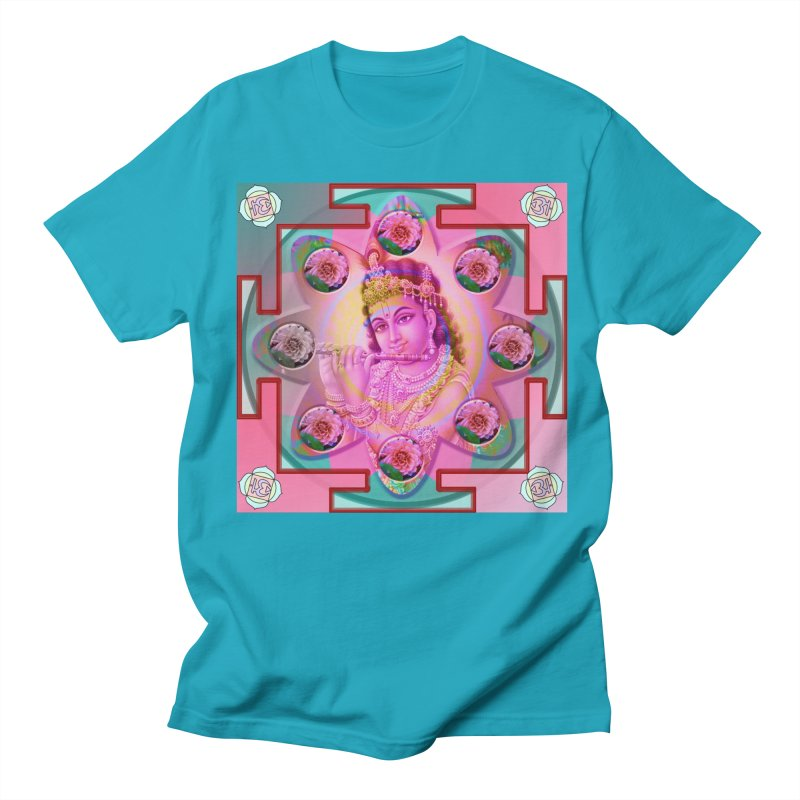 Krishna Mandala Women's Regular Unisex T-Shirt by InspiredPsychedelics's Artist Shop
