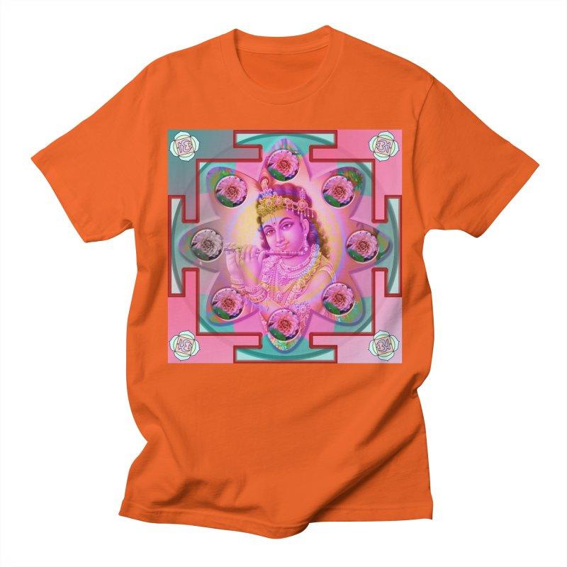 Krishna Mandala Men's Regular T-Shirt by InspiredPsychedelics's Artist Shop