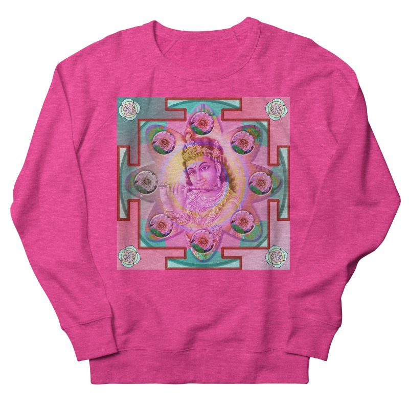 Krishna Mandala Women's French Terry Sweatshirt by InspiredPsychedelics's Artist Shop