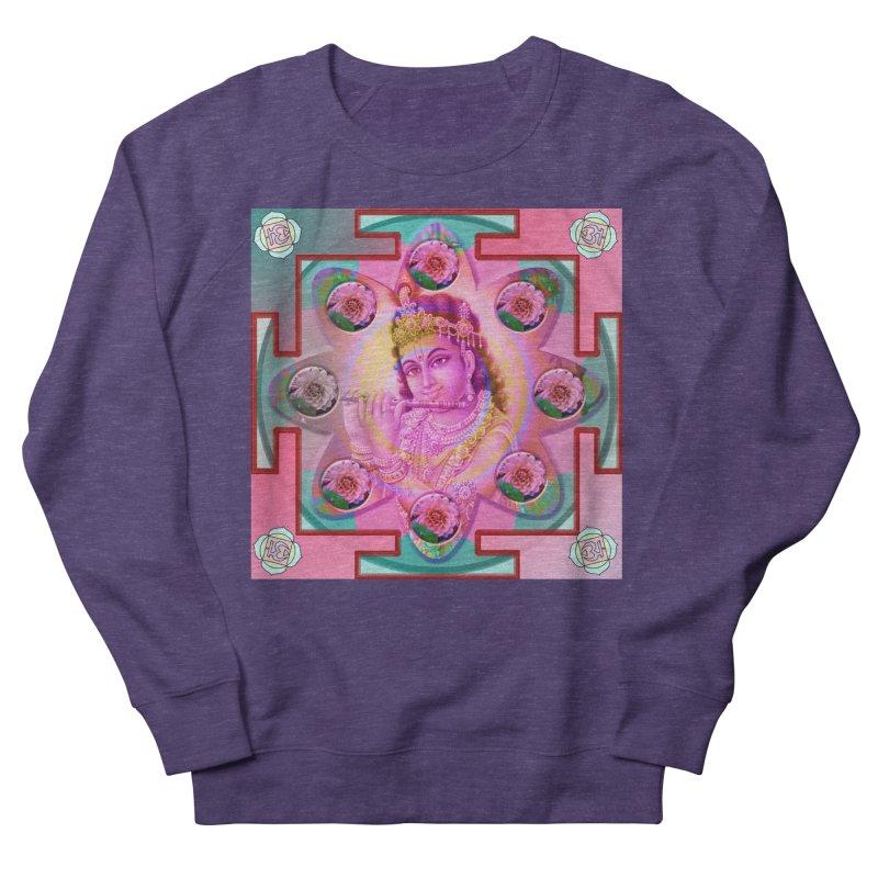 Krishna Mandala Men's French Terry Sweatshirt by InspiredPsychedelics's Artist Shop