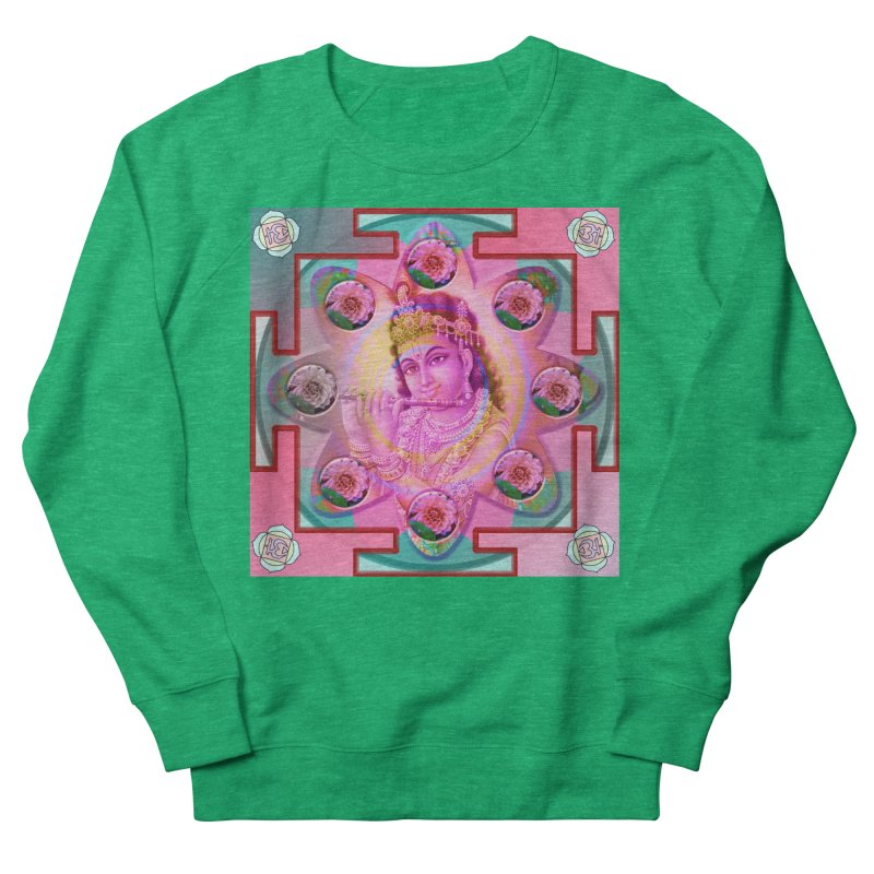Krishna Mandala Men's Sweatshirt by InspiredPsychedelics's Artist Shop