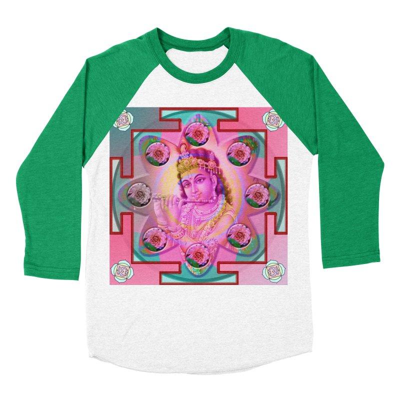 Krishna Mandala Women's Baseball Triblend Longsleeve T-Shirt by InspiredPsychedelics's Artist Shop