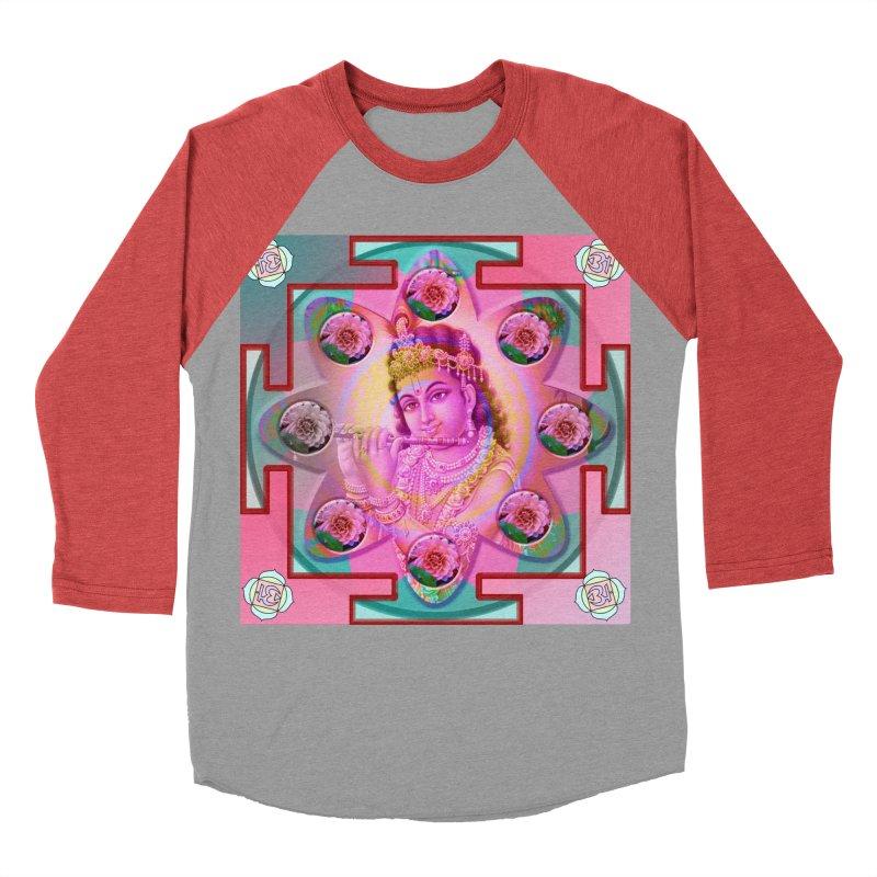 Krishna Mandala Women's Baseball Triblend T-Shirt by InspiredPsychedelics's Artist Shop