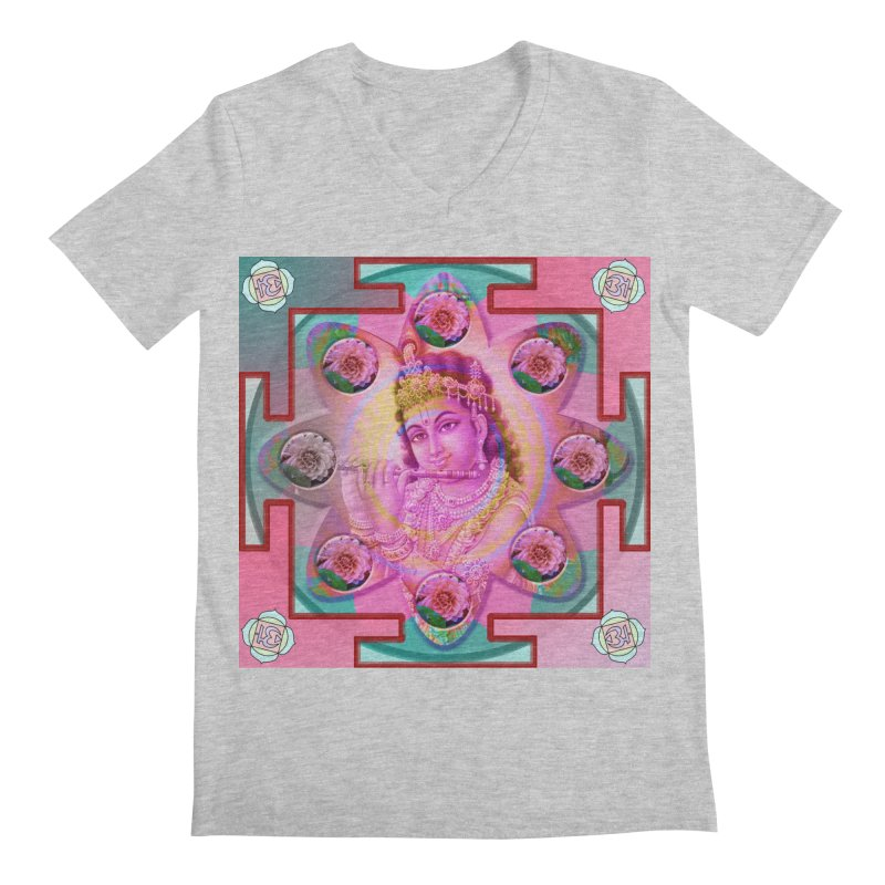 Krishna Mandala Men's Regular V-Neck by InspiredPsychedelics's Artist Shop