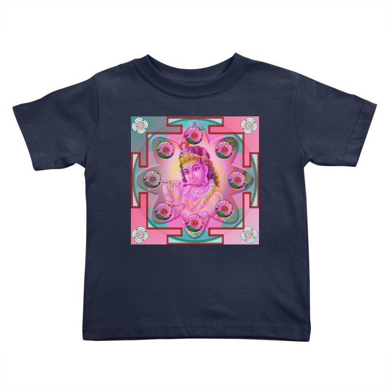Krishna Mandala Kids Toddler T-Shirt by InspiredPsychedelics's Artist Shop