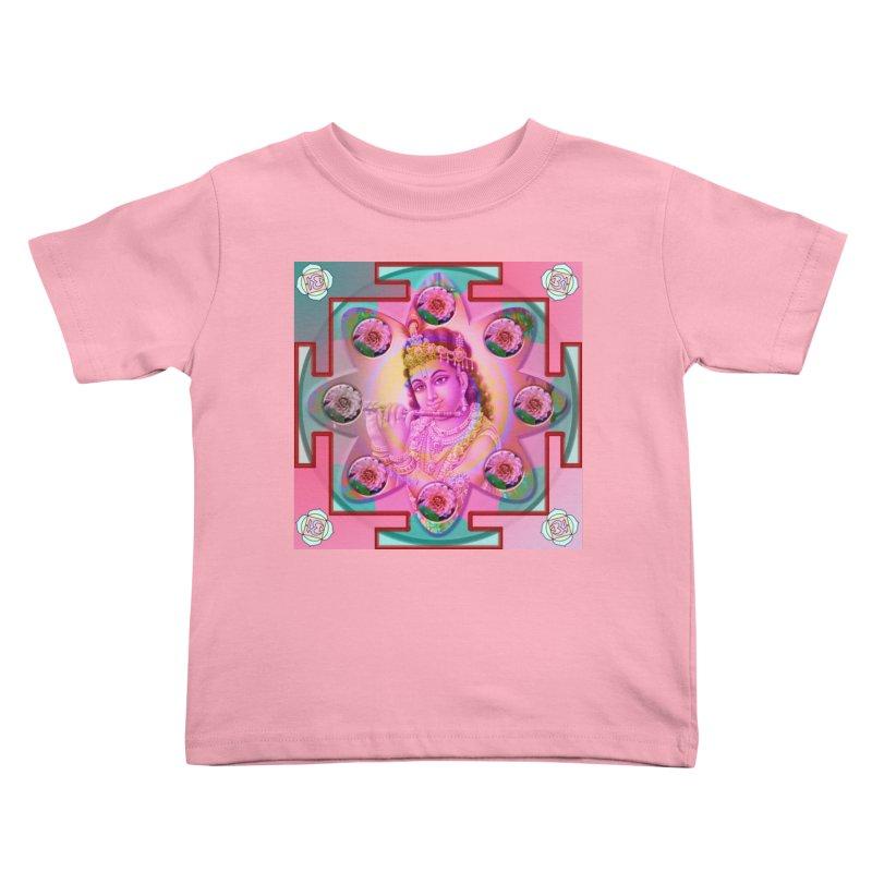 Krishna Mandala Kids Toddler T-Shirt by InspiredPsychedelics's Artist Shop