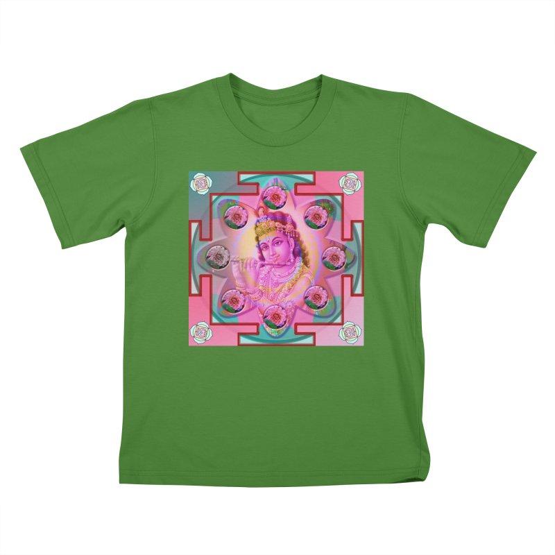 Krishna Mandala Kids T-Shirt by InspiredPsychedelics's Artist Shop