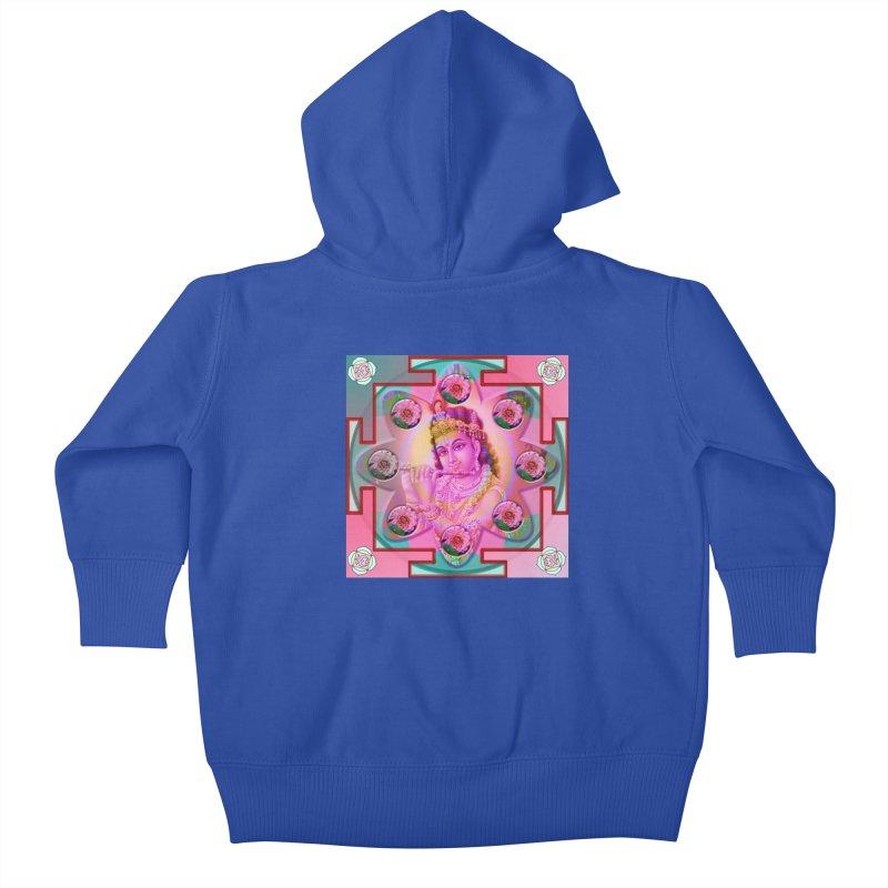 Krishna Mandala Kids Baby Zip-Up Hoody by InspiredPsychedelics's Artist Shop