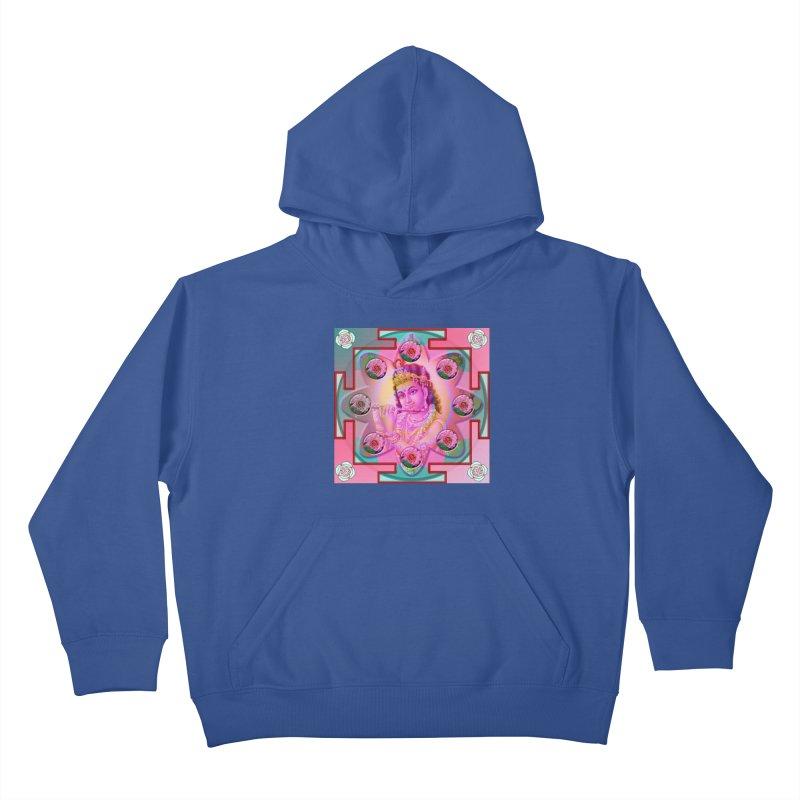Krishna Mandala Kids Pullover Hoody by InspiredPsychedelics's Artist Shop