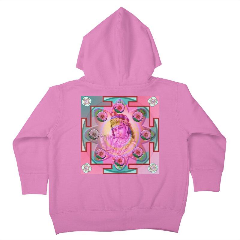 Krishna Mandala Kids Toddler Zip-Up Hoody by InspiredPsychedelics's Artist Shop