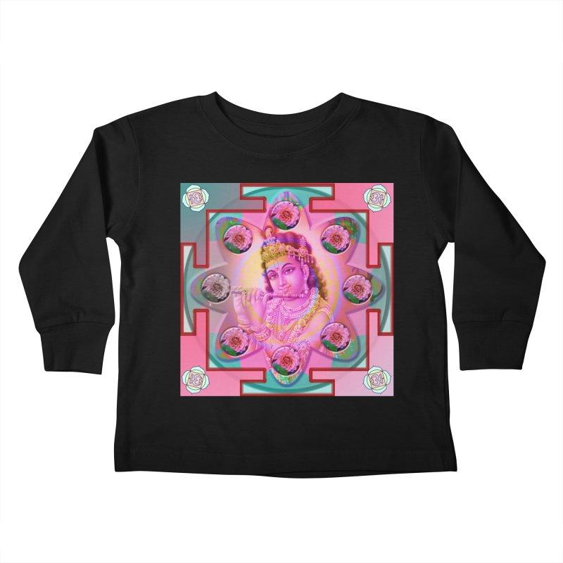 Krishna Mandala Kids Toddler Longsleeve T-Shirt by InspiredPsychedelics's Artist Shop