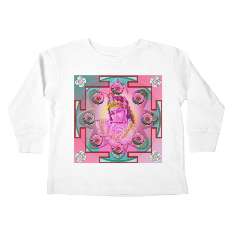 Krishna Mandala Kids Toddler Longsleeve T-Shirt by InspiredPsychedelics's Artist Shop