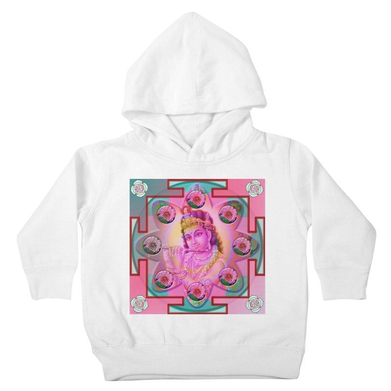 Krishna Mandala Kids Toddler Pullover Hoody by InspiredPsychedelics's Artist Shop