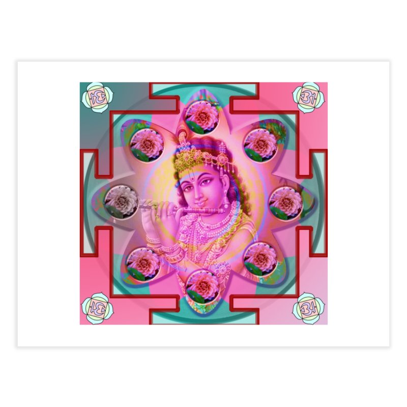 Krishna Mandala Home Fine Art Print by InspiredPsychedelics's Artist Shop