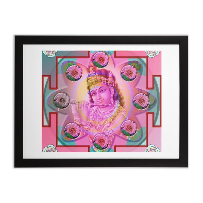 Krishna Mandala Home Framed Fine Art Print by InspiredPsychedelics's Artist Shop
