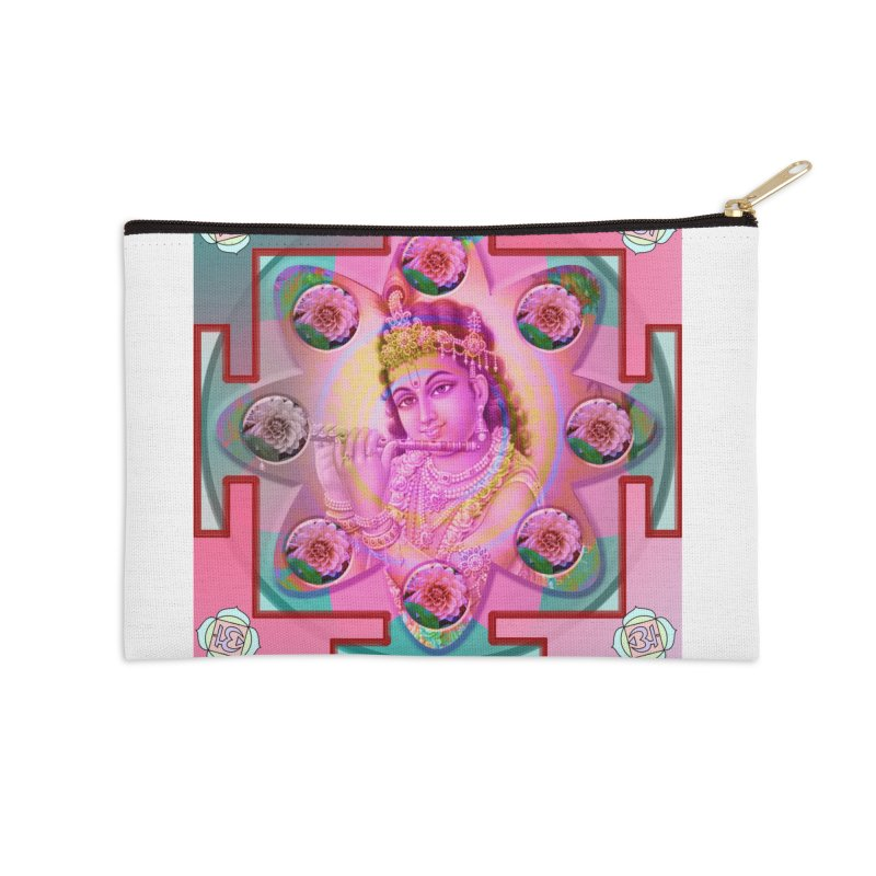 Krishna Mandala Accessories Zip Pouch by InspiredPsychedelics's Artist Shop