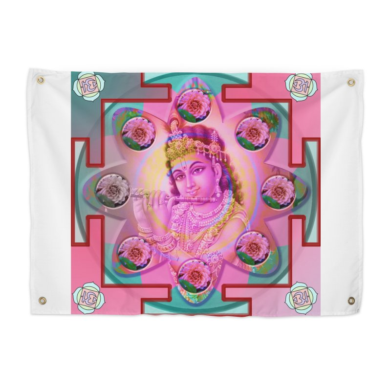 Krishna Mandala Home Tapestry by InspiredPsychedelics's Artist Shop