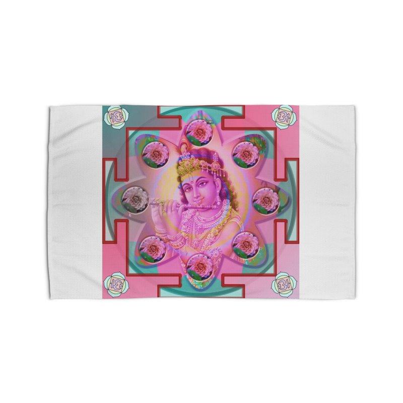 Krishna Mandala Home Rug by InspiredPsychedelics's Artist Shop