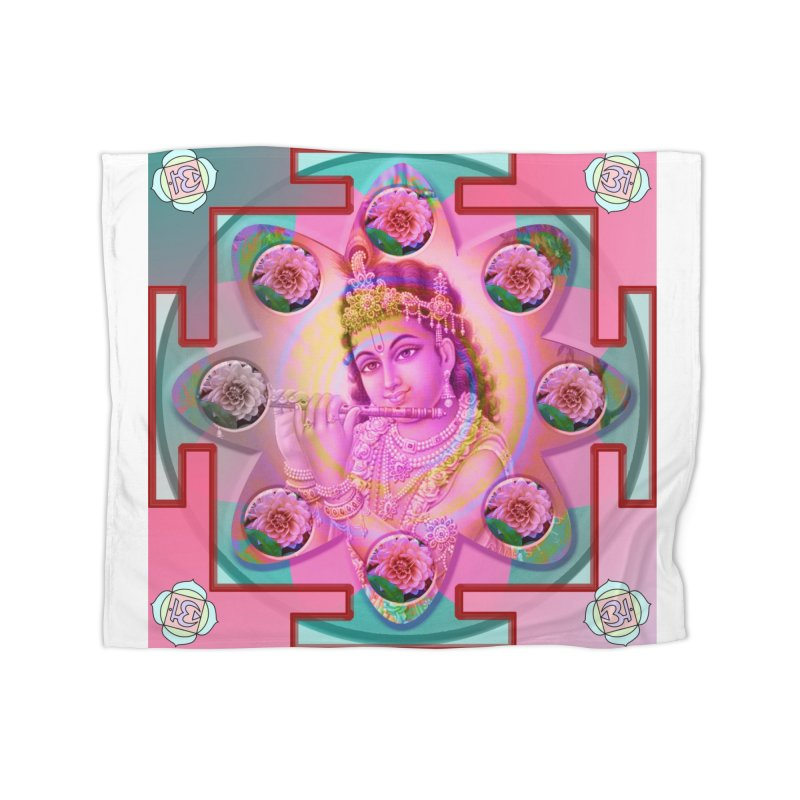 Krishna Mandala Home Blanket by InspiredPsychedelics's Artist Shop