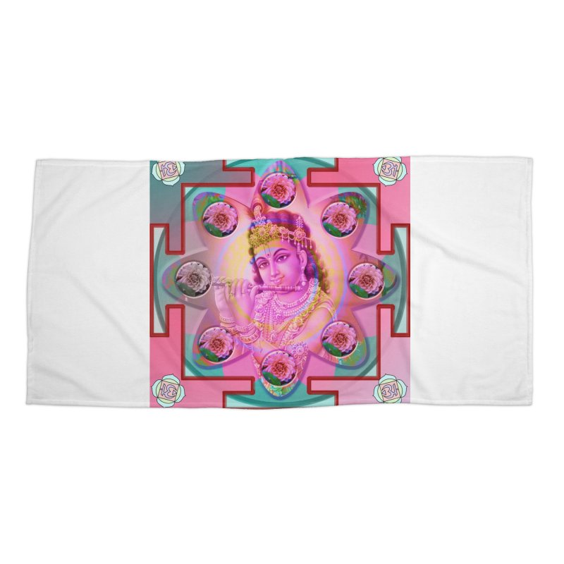 Krishna Mandala Accessories Beach Towel by InspiredPsychedelics's Artist Shop