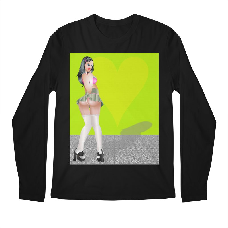 Stefanie Cane Pinup Men's Longsleeve T-Shirt by InspiredPsychedelics's Artist Shop