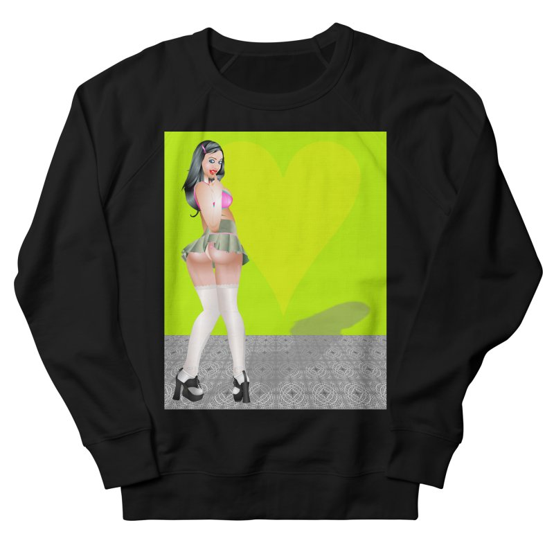 Stefanie Cane Pinup Women's French Terry Sweatshirt by InspiredPsychedelics's Artist Shop