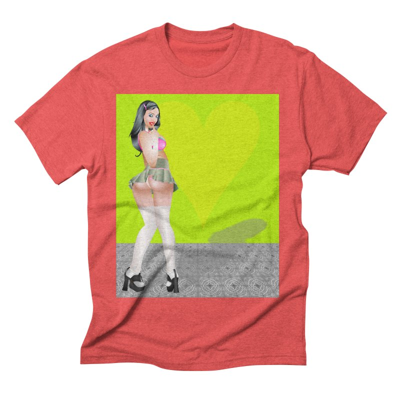 Stefanie Cane Pinup Men's Triblend T-Shirt by InspiredPsychedelics's Artist Shop