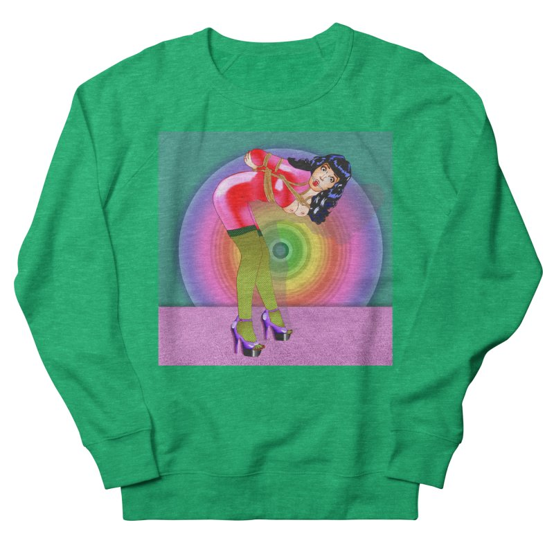 Bettie Page All Tied Up Pinup Men's Sweatshirt by InspiredPsychedelics's Artist Shop