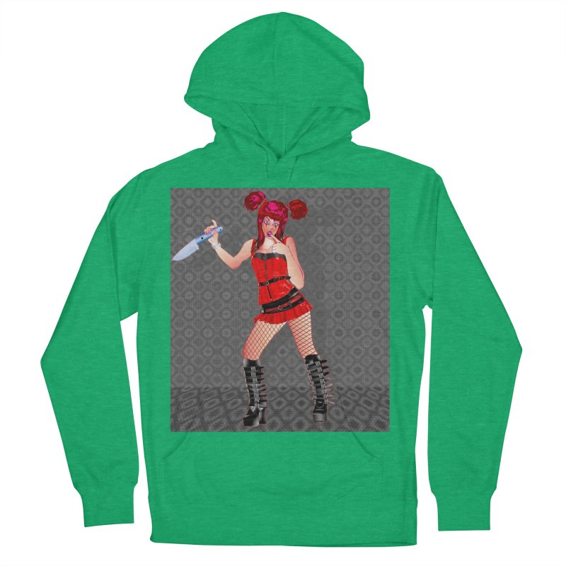 Ann Colter: Punk Girl Pinup with a Colter Knife Women's Pullover Hoody by InspiredPsychedelics's Artist Shop