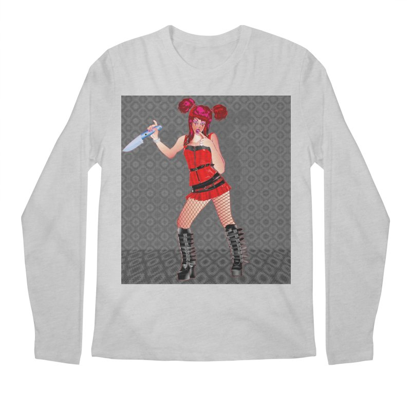 Ann Colter: Punk Girl Pinup with a Colter Knife Men's Longsleeve T-Shirt by InspiredPsychedelics's Artist Shop