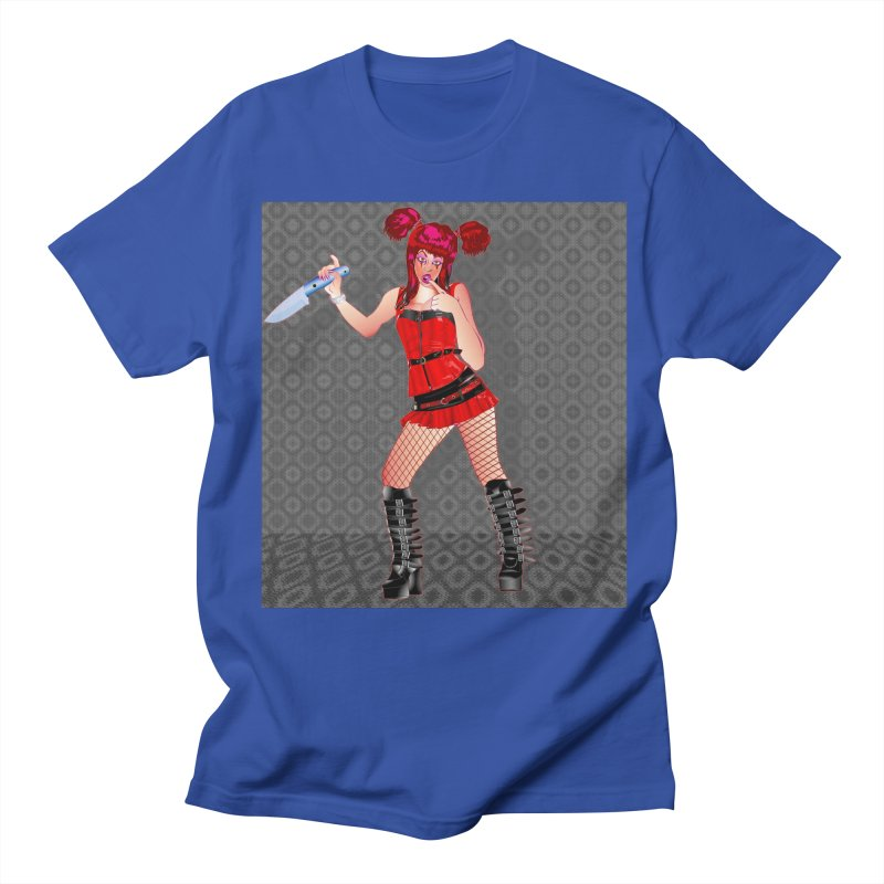 Ann Colter: Punk Girl Pinup with a Colter Knife Men's T-Shirt by InspiredPsychedelics's Artist Shop