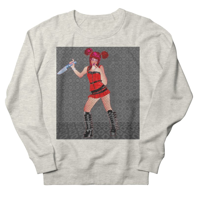 Ann Colter: Punk Girl Pinup with a Colter Knife Women's Sweatshirt by InspiredPsychedelics's Artist Shop