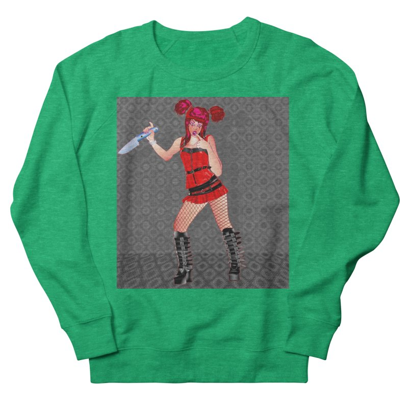 Ann Colter: Punk Girl Pinup with a Colter Knife Men's Sweatshirt by InspiredPsychedelics's Artist Shop