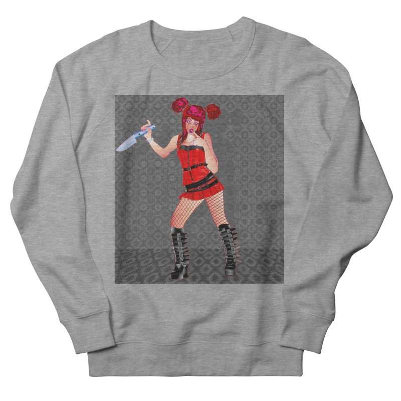 Ann Colter: Punk Girl Pinup with a Colter Knife Men's French Terry Sweatshirt by InspiredPsychedelics's Artist Shop