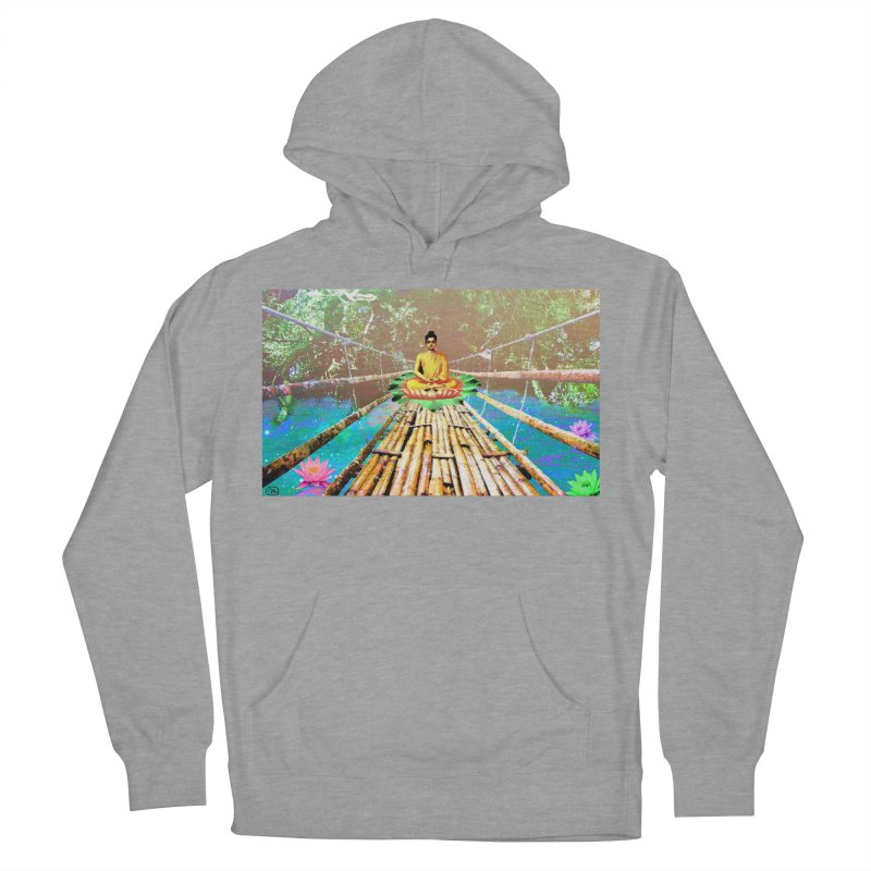 A Bridge to Buddha Men's French Terry Pullover Hoody by InspiredPsychedelics's Artist Shop