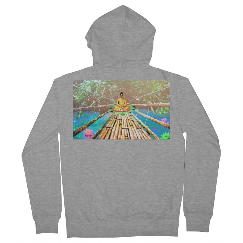 A Bridge to Buddha Women's French Terry Zip-Up Hoody by InspiredPsychedelics's Artist Shop