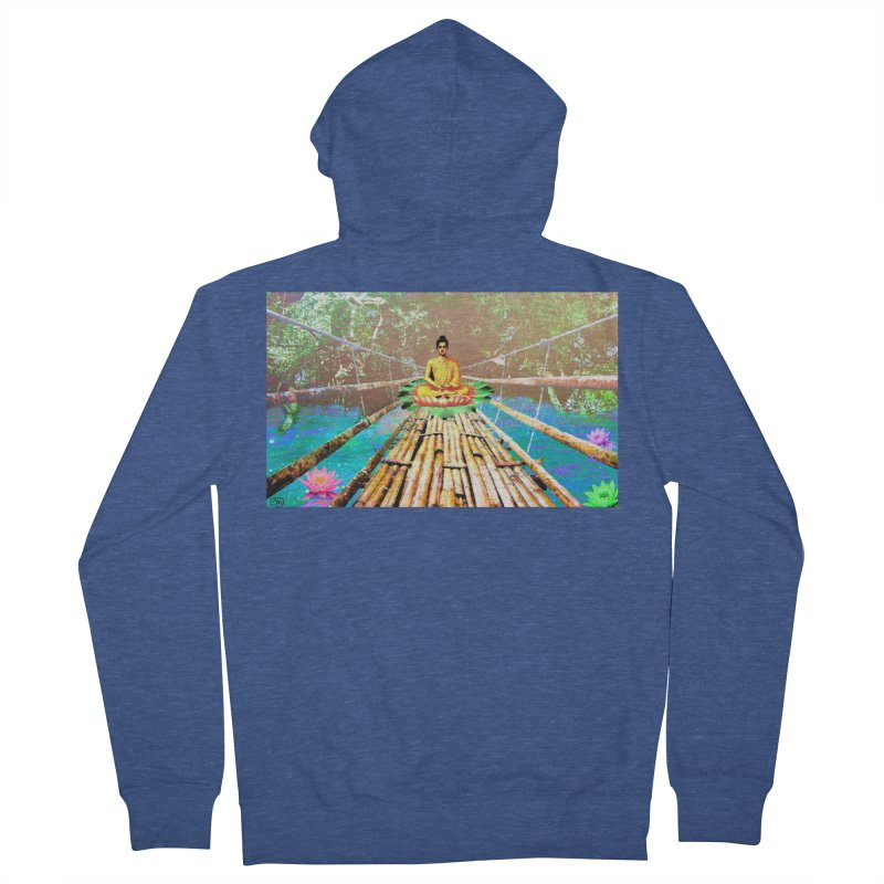 A Bridge to Buddha Men's French Terry Zip-Up Hoody by InspiredPsychedelics's Artist Shop